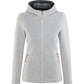 SALEWA Sarner 2 Layer Wool Full-Zip Hoodie Damen silver